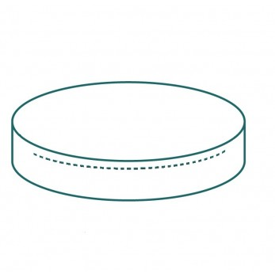 Housse de protection extérieure sur mesure Forme K coussin rond fermeture zippée