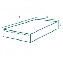 Housse de protection extérieure Rectiligne fermeture Zip sur mesure Forme L