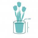 Pot de fleur Textile sur mesure Rond