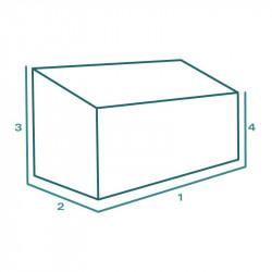 Housse de protection extérieure sur mesure Forme A Fauteuil Banc Canapé Chaise