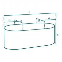 Housse de protection extérieure sur mesure Forme C Oblongue Table Ovale