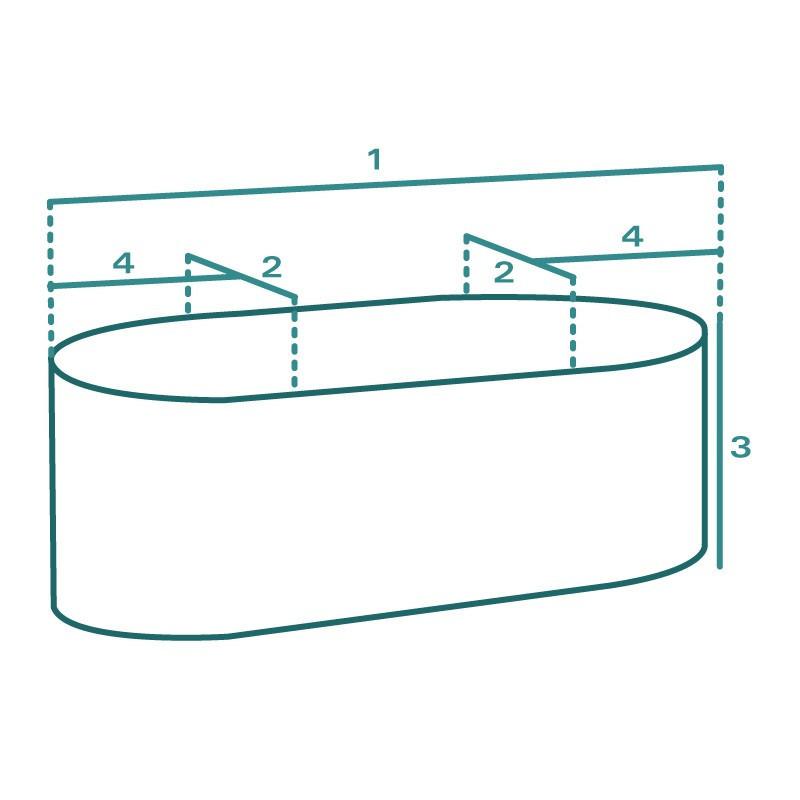 Housse de protection extérieure sur mesure Forme C