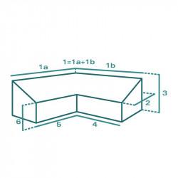 Housse de protection extérieure sur mesure Forme I Canapé d'angle à dossier