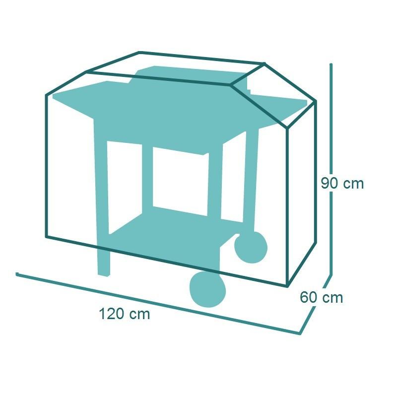 Housse de protection pour Chariot à plancha 120 x 60 x h90 cm