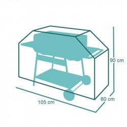 Housse de protection pour Barbecue en trapèze 105 x 60 x h95 cm