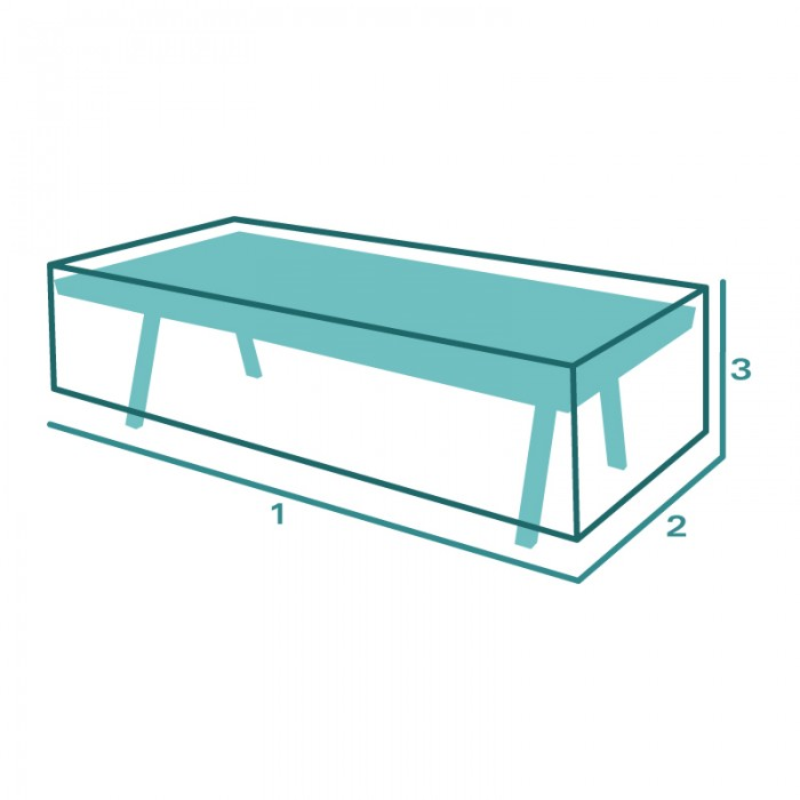 Housse de protection Table Basse Rectangulaire SUR MESURE