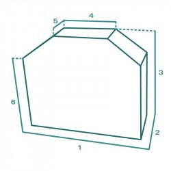 Housse de protection extérieure sur mesure Forme E BBQ Plancha