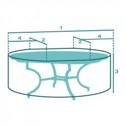 Housse de protection de Table Basse Ovale Sur Mesure