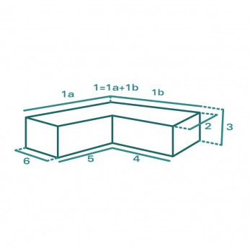 Housse de protection extérieure sur mesure Forme J rectiligne à angle droit